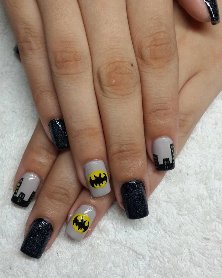 mesmarize batman nail art