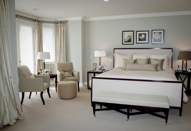 modern blue bedroom design idea