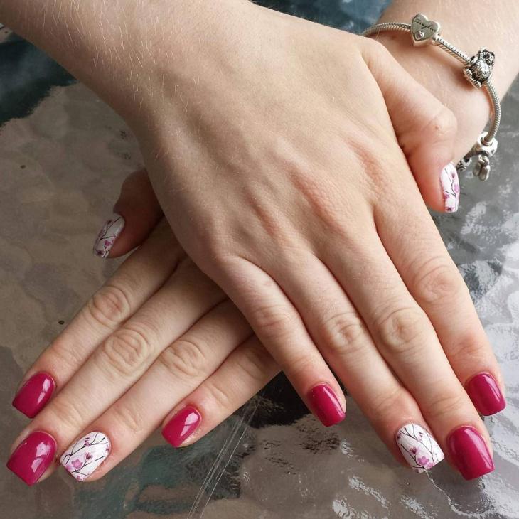 Acrylic Blossom Nail Art
