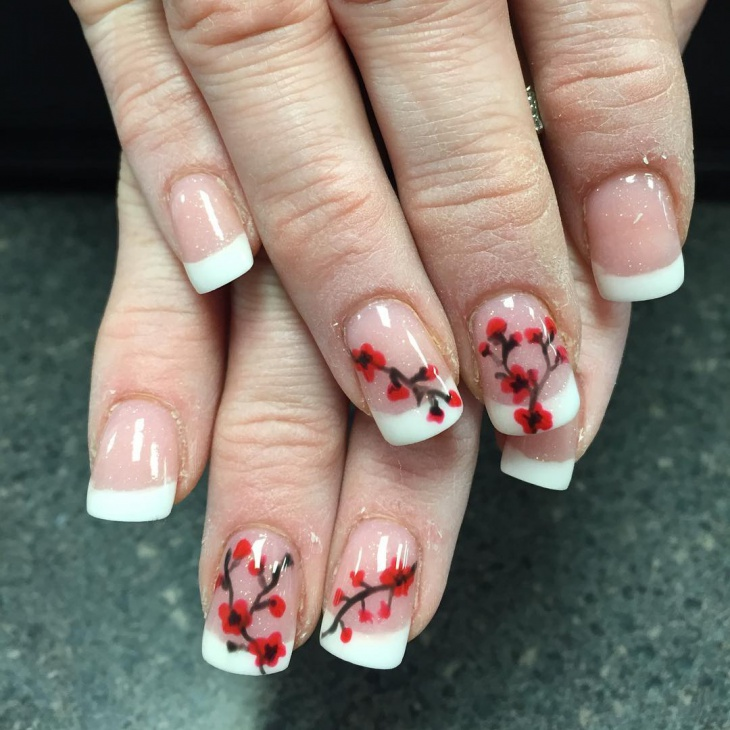 20+ Cherry Blossom Nail Art Designs, Ideas | Design Trends - Premium ...