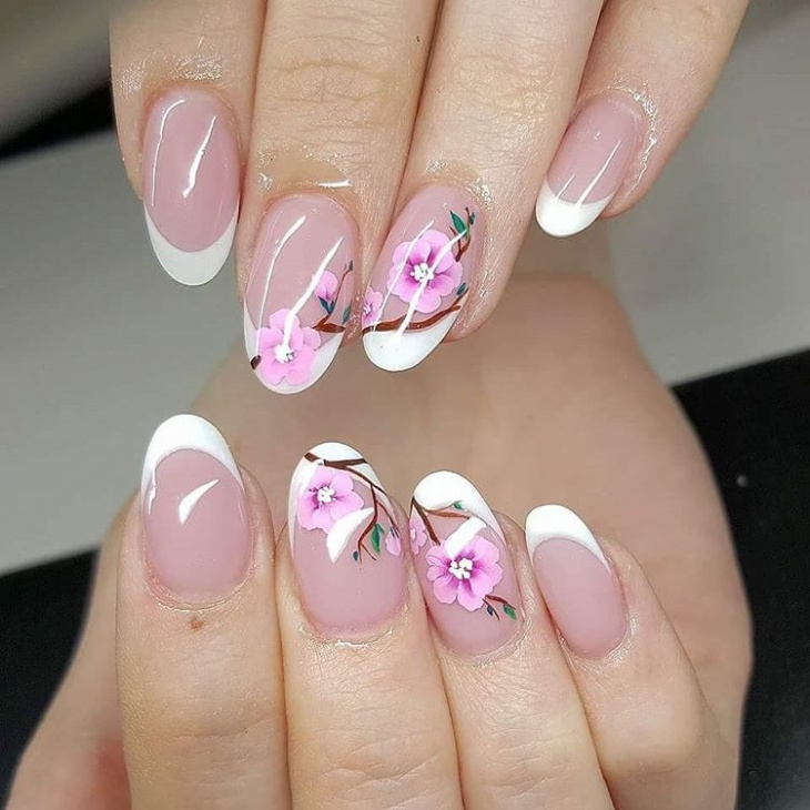 20 Cherry Blossom Nail Art Designs Ideas Design Trends Premium Psd Vector Downloads