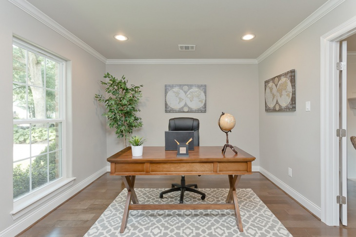 Bright White Versatile Home Office Design