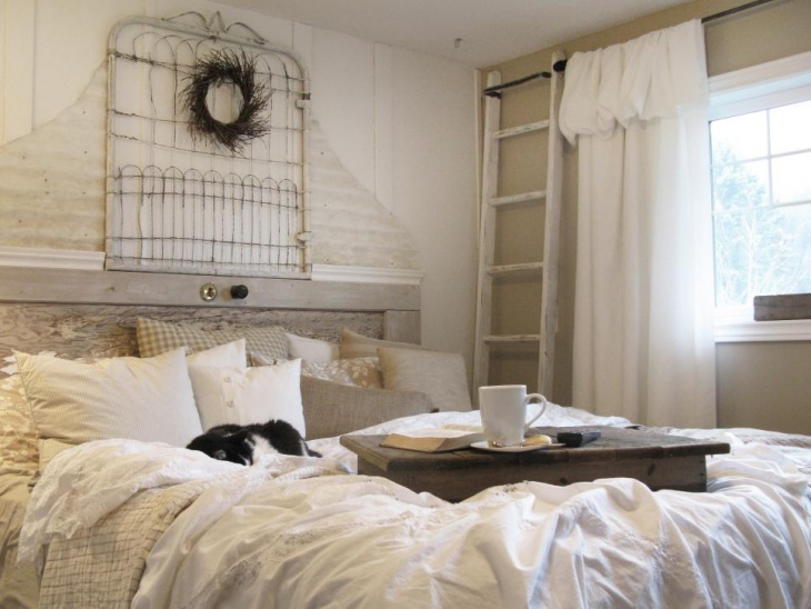 Cottage Bedroom With Reclaimed Furniture