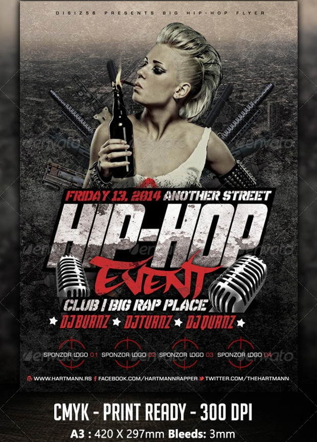 Hip Hop Event Flyer