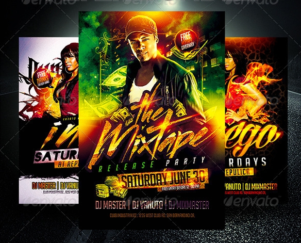 Colorful Hip Hop Flyer Design