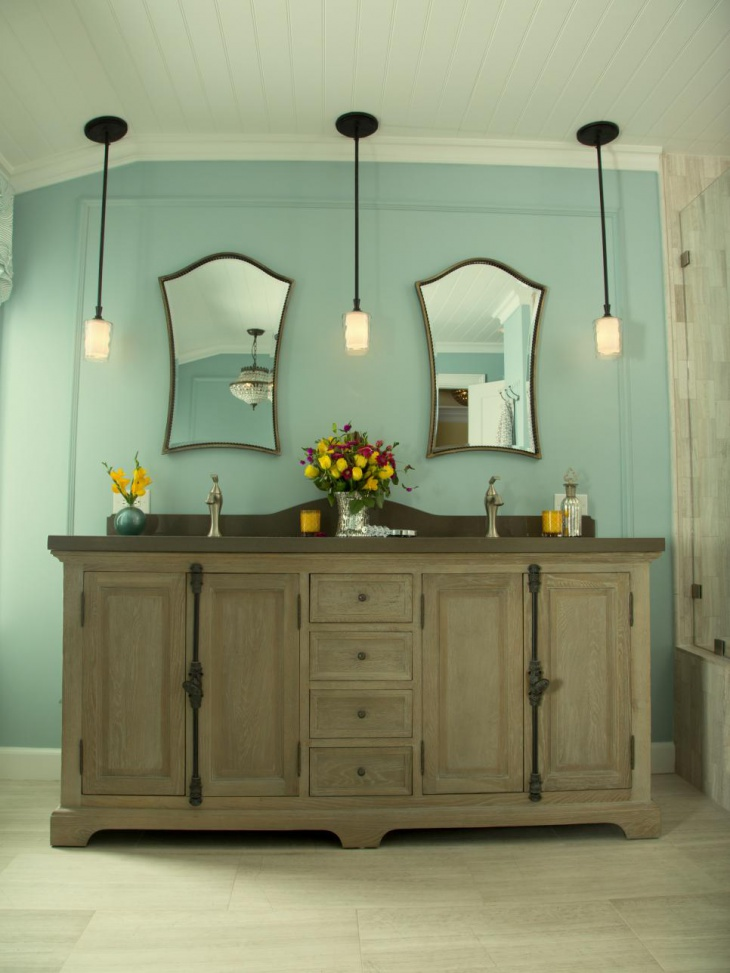 weathered furniture style vanity