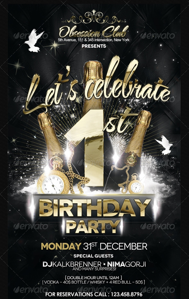 21+ Birthday Party Flyer Design, PSD Download | Design Trends ...
