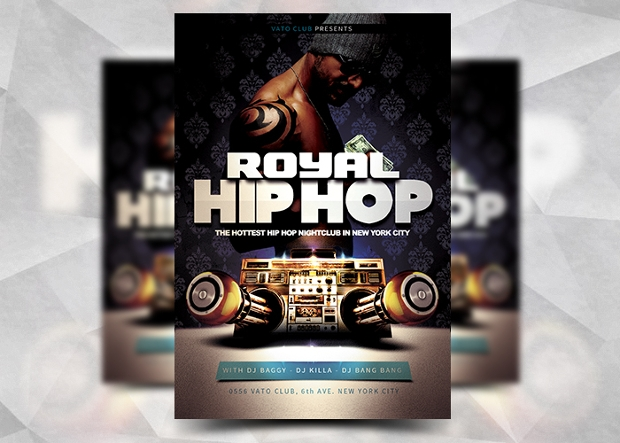 Royal Hip Hop Flyer Design