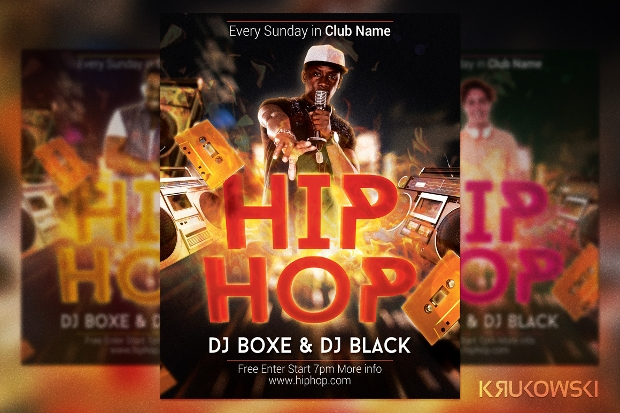 Dj Hip Hop Flyer
