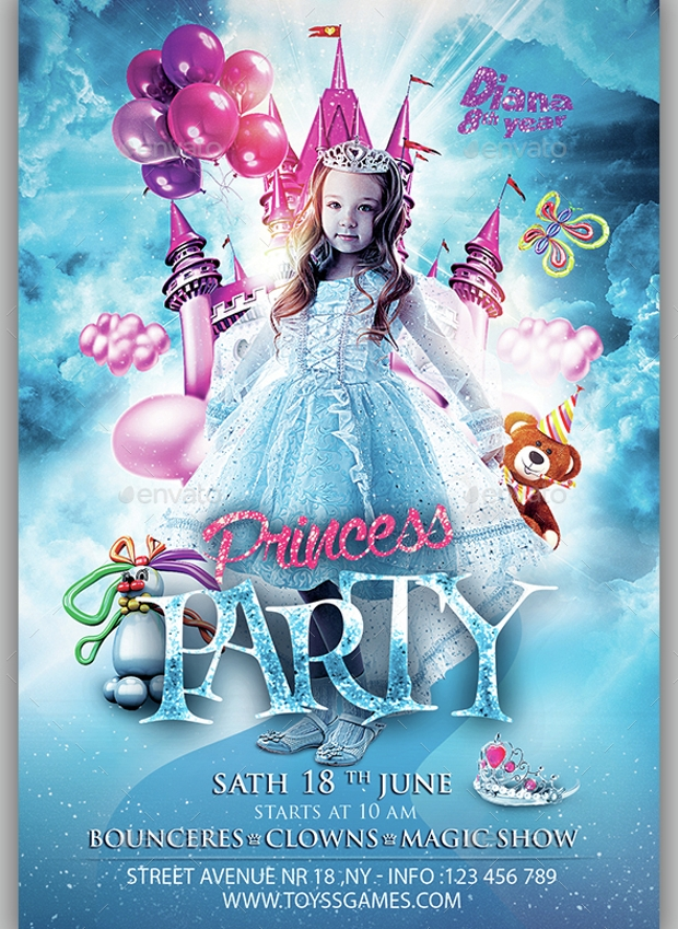 25  birthday party flyer design  psd download