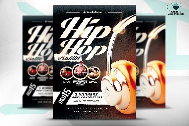 Hip Hop Battle Flyer