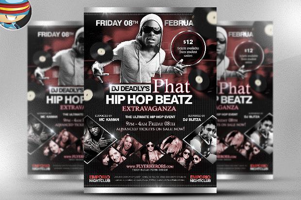Hip Hop Beatz Flyer Design