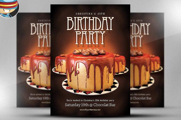Elegant Birthday Flyer