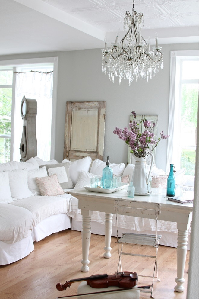 21 shabby chic furniture ideas designs plans models How to decorate a cottage living room