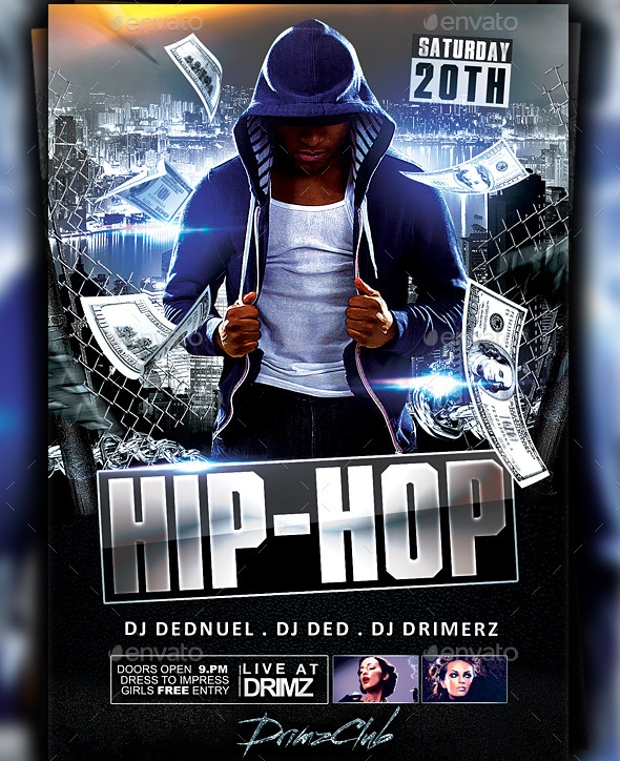 Hip Hop Music Flyer