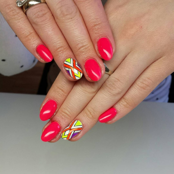 Colorful Geometric Nail Ideas