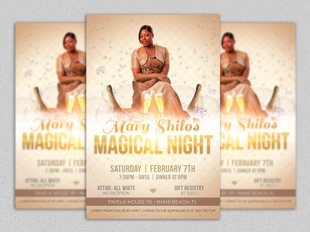 Birthday and Club Party Flyer