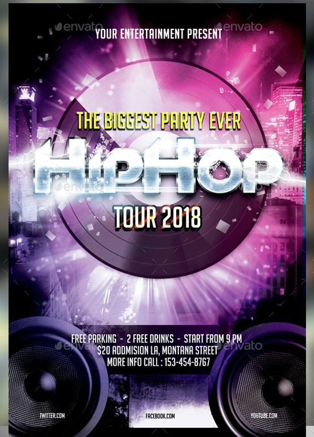 Beautiful Hip Hop Flyer Design