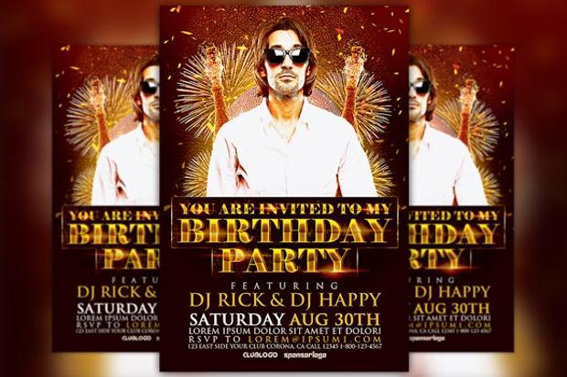 Stylish Birthday Party Flyer