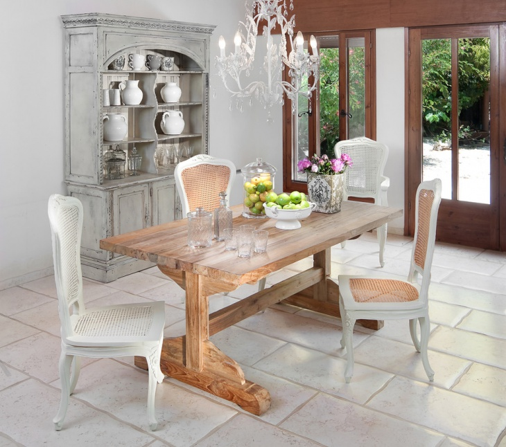 Shabby Chic Kitchen Table Centerpieces: 21+ Shabby Chic Furniture Ideas, Designs, Plans, Models