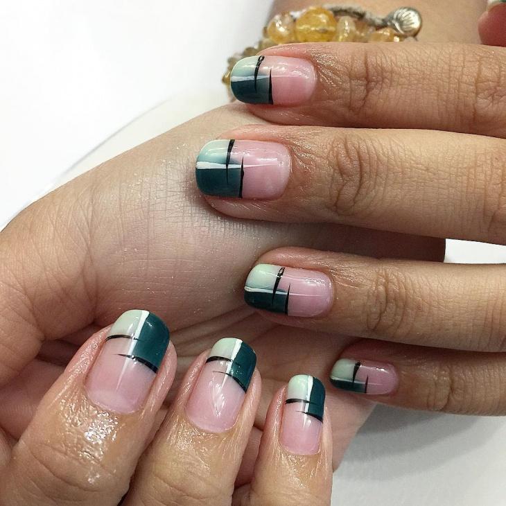 Fake Half Nail Design