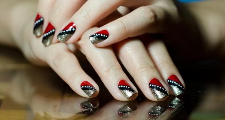 Amazing Geometric Nail Art Designs - 20+ Geometric Nail Art Designs, Ideas Design Trends - Premium PSD