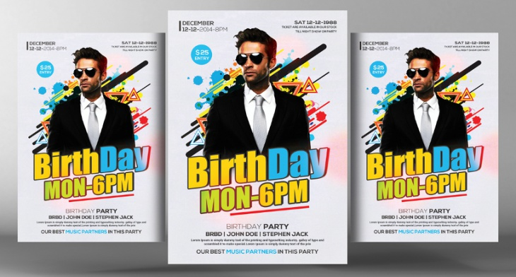 25 birthday party flyer design psd download design trends