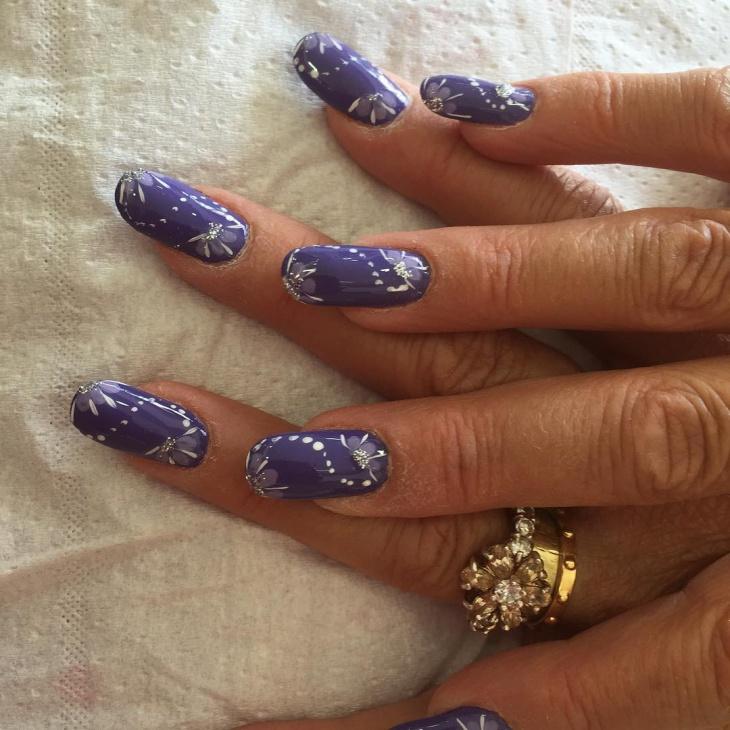 attractive purple nail design