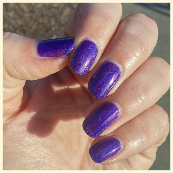 Simple Purple Nail Design