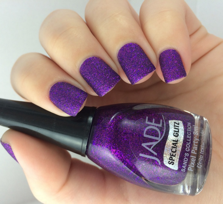 Sand Purple Nail Design