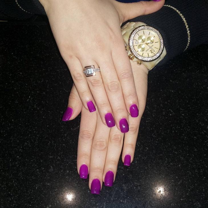 Classy Purple Nail Design