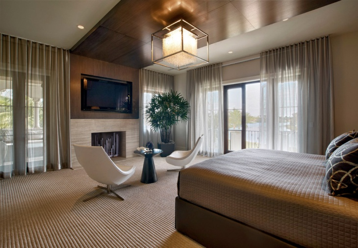 lavish contemporary bedroom design