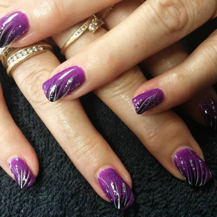 Sprinkle Purple Nail Design - 20+ Purple Nail Art Designs, Ideas Design Trends - Premium PSD