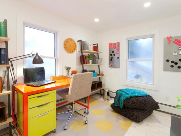 Colorful Furniture Adds Personality To Home Office