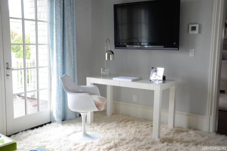 Home Office Space Features Mod White Furniture