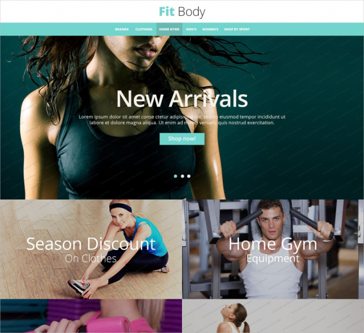 body fitness responsive theme