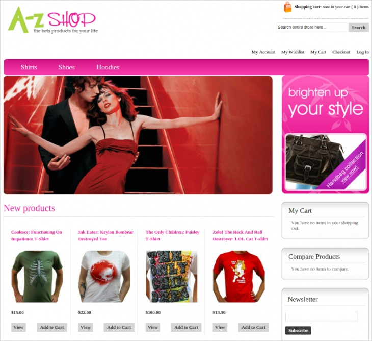 Elegant eCommerce Website Template