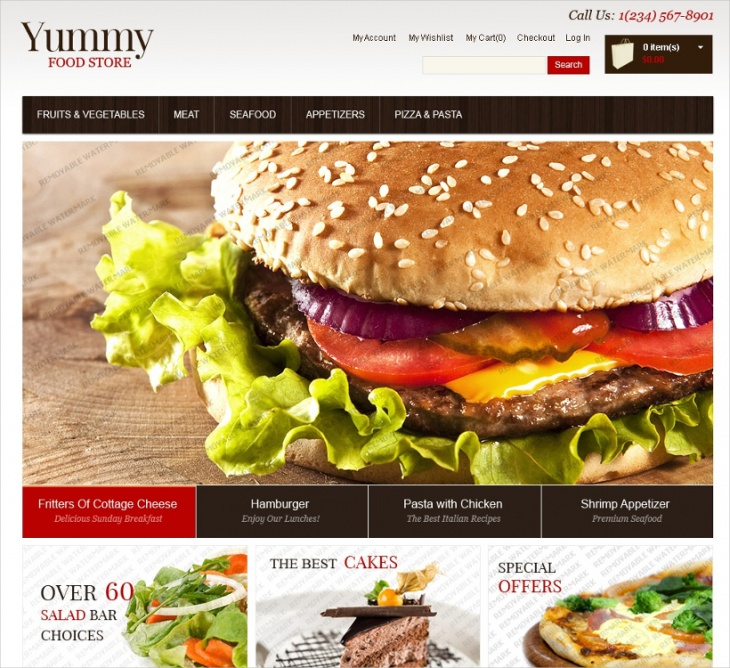 Food Store Responsive Template
