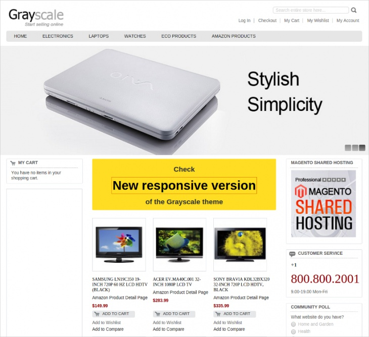 Grayscale Magento Template