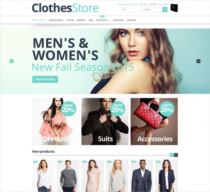 magento clothes store template