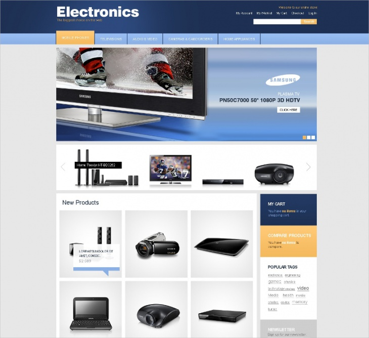 Magento Electronics Template