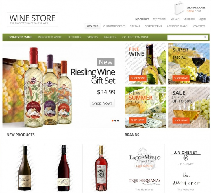 Magento Wine Store Template