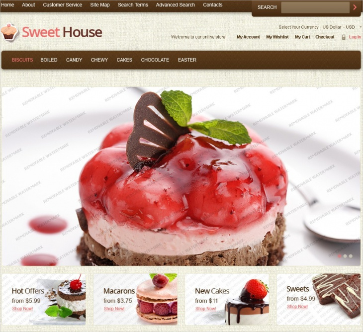 sweet house magento template