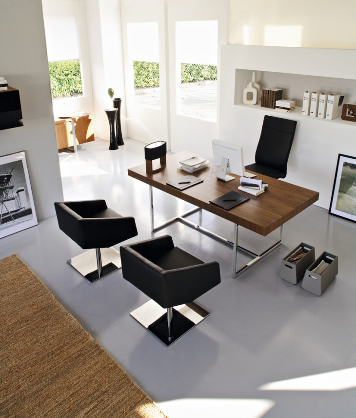 Modern Home Office With Stylish Furniture