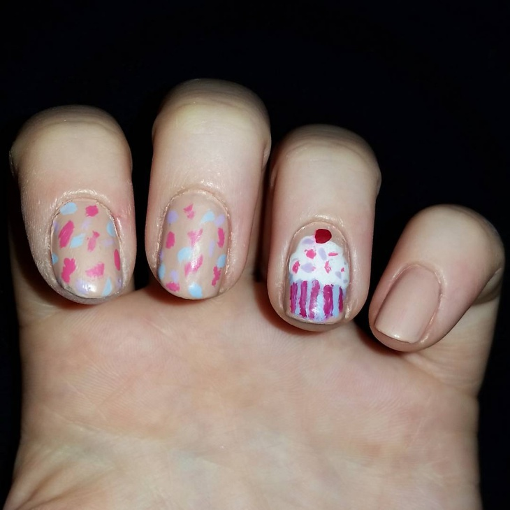 Birthday Cake Nails: 20+ Birthday Nail Art Designs, Ideas