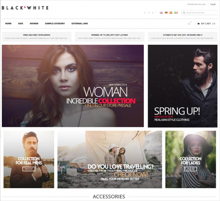 Black & White Magento Theme