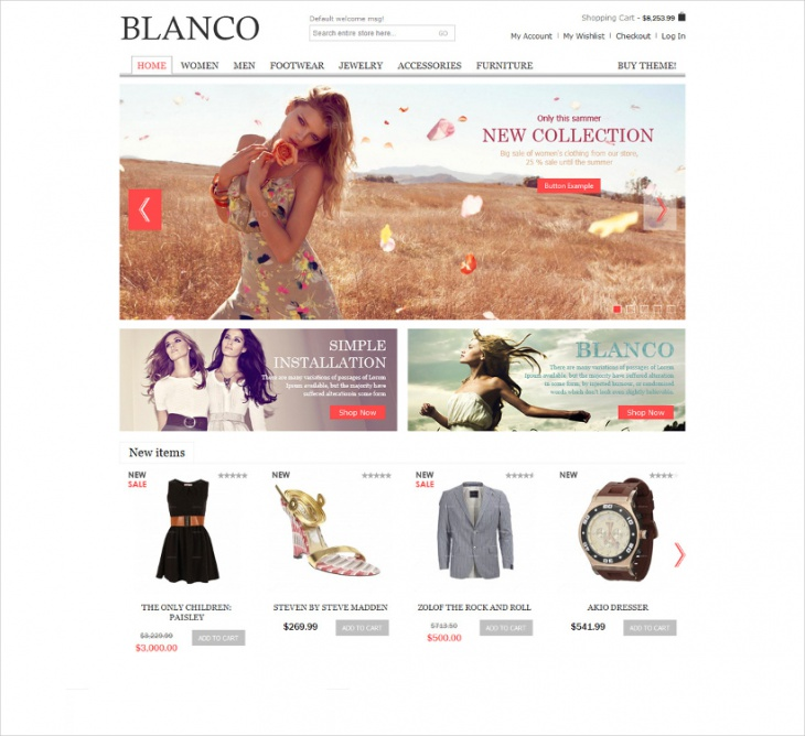 Blanco Clear & Easy Magento Template