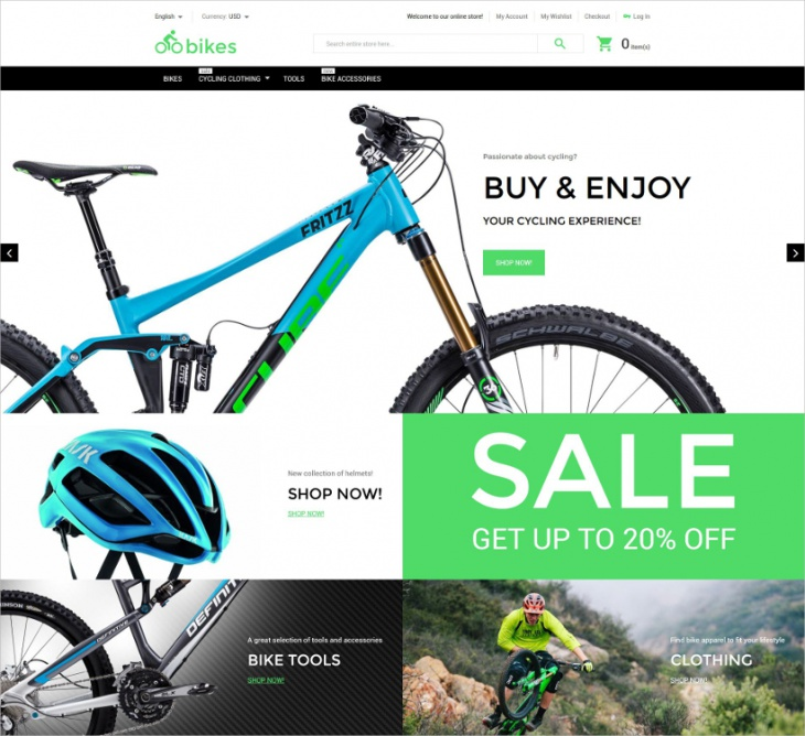 Magento Bike Shop Theme