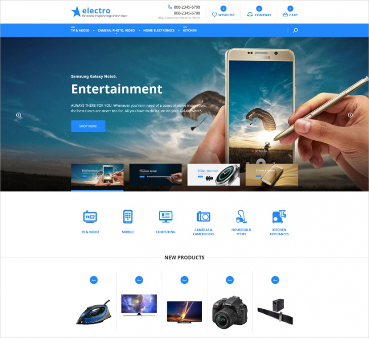 magento electronic online store theme