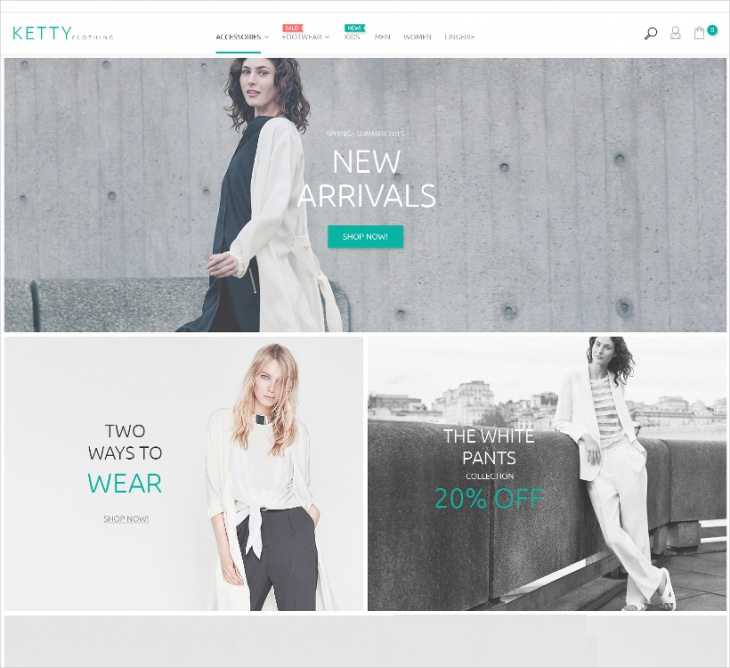 Magento Fashion Clothes Store Theme
